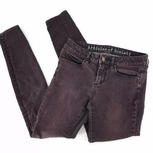 Articles of Society Women Jeans Skinny Maroon 801